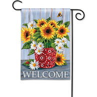 BreezeArt Bandana Sunflowers Decorative Garden Flag