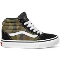 Vans Boys' Ward Hi Camo Canvas Sneaker