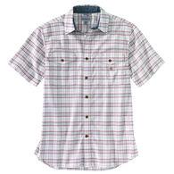 Carhartt Men's Big & Tall Rugged Flex Relaxed Fit Lightweight Plaid Short-Sleeve Shirt