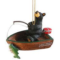 Big Sky Carvers Bear In Boat Fishing Ornament