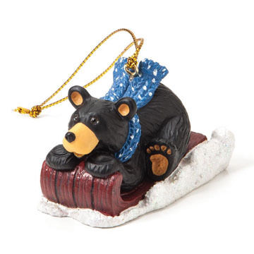 Big Sky Carvers Red Sled Ornament
