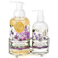 Michel Design Works Lilac And Violets Handcare Caddy, 3 - Piece