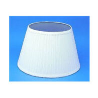 "Aladdin Mantle Lamp 14"" White Pleated Cloth Shade"