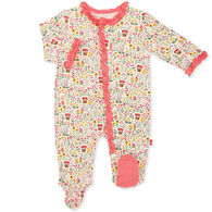 Magnetic Me Infant Girl's Gnome Sweet Gnome Modal Magnetic Footie Pajama