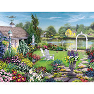 White Mountain Jigsaw Puzzle - By The Pond