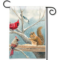 BreezeArt Winter Snacktime Decorative Garden Flag