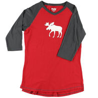 Lazy One Women's Moose Fair Isle PJ Tall T-Shirt