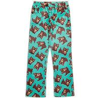 Candy Pink Girl's Bandana Dog Pajama Pant