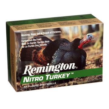 """Remington Nitro Turkey 12 GA 3"""" 1-7/8 oz. #4 Buffered Shotshell Ammo (10)"""