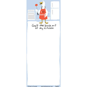 Hatley Little Blue House Get The Duck Out Of My Kitchen Magnetic List Notepad