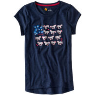 Carhartt Girls' Horse & Flower Short-Sleeve T-Shirt