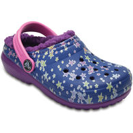 Crocs Girls' Classic Fuzz Lined Graphic Clog