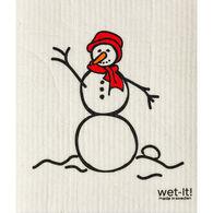 Wet-it! Swedish Cloth - Snowman Red