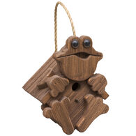 Brookside Woodworks Amish Handcrafted Frog Birdhouse