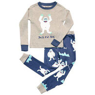 Lazy One Boys' Yeti For Bed Pajama Set