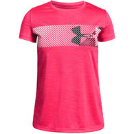 Under Armour Girls' UA Hybrid Big Logo Short-Sleeve T-Shirt