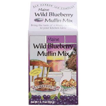 Bar Harbor Jam Company Maine Wild Blueberry Muffin Mix