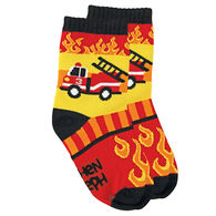Stephen Joseph Toddler Fire Truck Sock