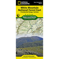 National Geographic White Mountain National Forest East: Presidential Range, Gorham Illustrated Trail Map