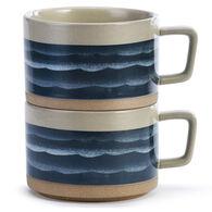 Big Sky Carvers Lake Waves Soup Mug - Set of 2