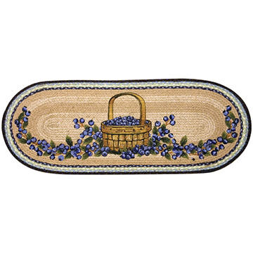 Capitol Earth Blueberry Basket Oval Braided Runner Rug