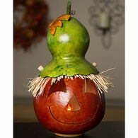 Meadowbrooke Gourds Owen Scarecrow Large Lit Gourd
