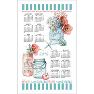 Kay Dee Designs 2019 Beach House Floral Calendar Towel