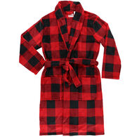 Lazy One Men's Red Plaid Bathrobe