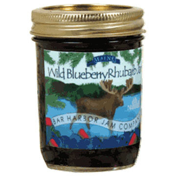 Bar Harbor Jam Company Blueberry Rhubarb Jam with Moose Label