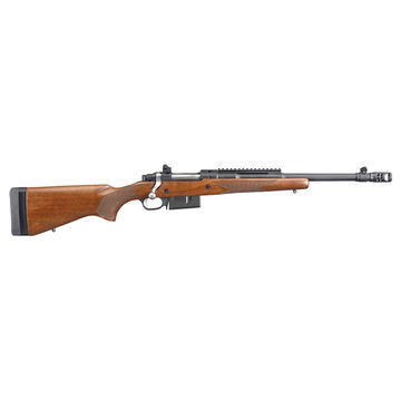 Ruger Scout 450 Bushmaster American Walnut 16.1 4-Round Rifle