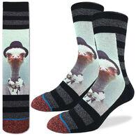 Good Luck Sock Men's Ostrich Mugshot Crew Sock