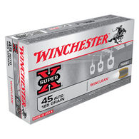 Winchester Super-X 45 Automatic 185 Grain WinClean Brass Enclosed Base Handgun Ammo (50)