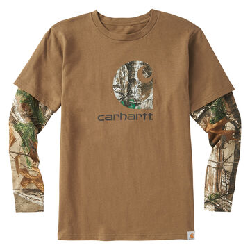 Carhartt Boys Big C Layered Long-Sleeve T-Shirt