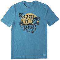 Life is Good Men's Keep It Reel Crusher Short-Sleeve T-Shirt