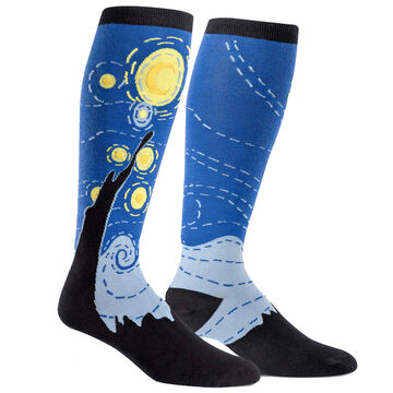 Sock It To Me Womens Stretch-It Starry Night Knee High Sock