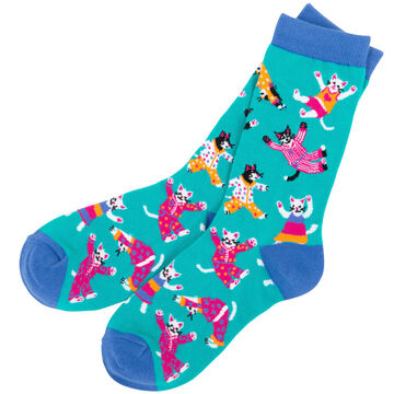 Hatley Womens Pajama Cats Crew Sock