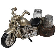 Rivers Edge Roads End Motorcycle Salt & Pepper Shaker Holder