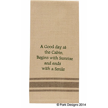 Park Designs Good Day At The Cabin Sentiment Dish Towel