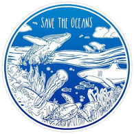 Sticker Cabana Save The Oceans Sticker