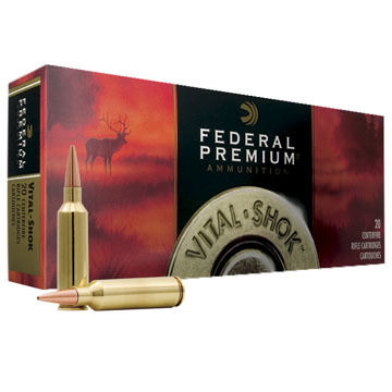 Federal Premium Vital-Shok 25-06 Remington 100 Grain Nosler Ballistic Tip Rifle Ammo (20)