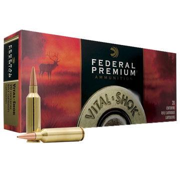 Federal Premium Vital-Shok 338 Winchester Magnum 225 Grain Trophy Bonded Bear Claw Rifle Ammo (20)