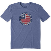 Life is Good Men's Big & Tall Land Of The Free Coin Cool Short-Sleeve T-Shirt
