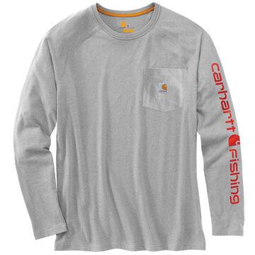 Carhartt Men's Force Cotton Delmont Fishing Graphic Long-Sleeve T-Shirt