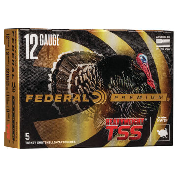 Federal Premium Heavyweight TSS 12 GA 3 1-3/4 oz. #9 Shotshell Ammo (5)