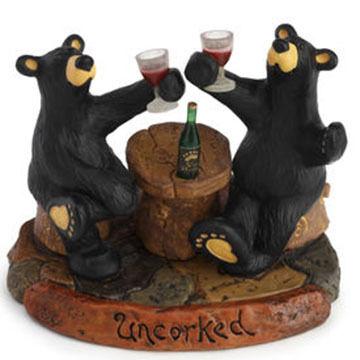 Big Sky Carvers Uncorked Bear Figurine