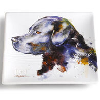 Big Sky Carvers Black Lab Snack Plate