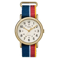 Timex Weekender Striped Strap Full-Size Watch