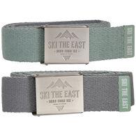 Ski The East Men's Ridgeline Canvas Reversible Belt