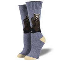 Socksmith Design Women's Recycled Cotton Friendly Bear Crew Sock