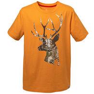 Carhartt Boys' Camo Deer Head Short-Sleeve T-Shirt